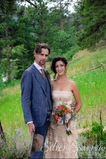 Vintage wedding at Wild Basin Lodge