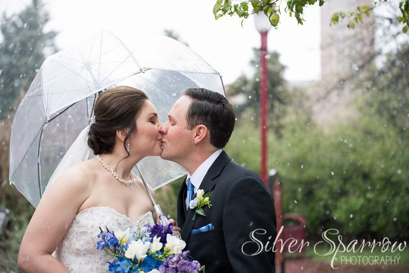 Rainy wedding day in Denver Colorado
