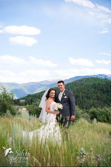 Mountain top wedding in Vail Colorado