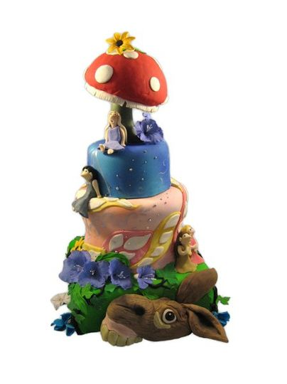 Wildlife wedding cake
