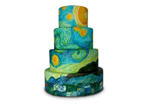 Van Gogh's Starry Night cake