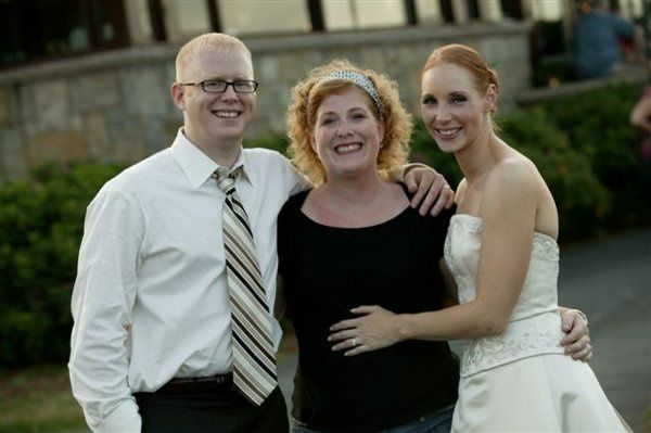 This is Jennifer Pearl with beth and Ryan at the reception - Ocean View Inn, Gloucester ma