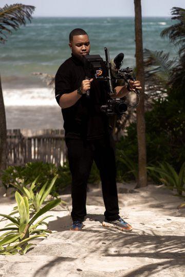 Filming in Tulum, Mexico