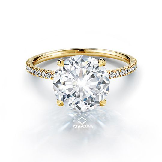 The 3.02 Carat Round Brilliant Forevermark Douglas Elliott Solitaire setting features a beautifully...