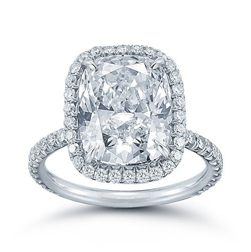 The Cushion Cut InLove Setting  This is our platinum micro pave InLove setting featuring a 6 carat...