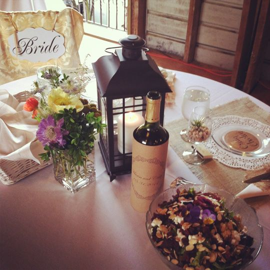 Most gorgeous family style Vineyard reception