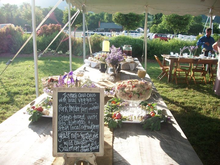 Gorgeous buffet for a lovely wedding