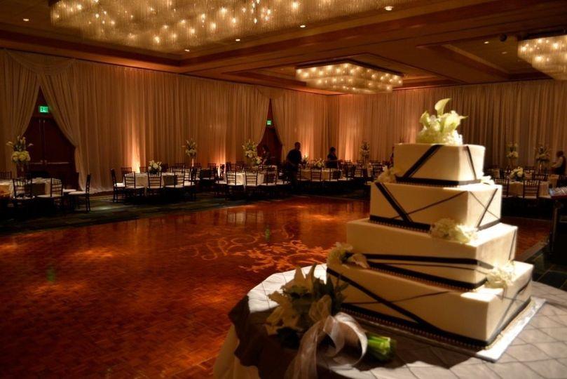 cake in ballroom