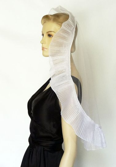 Ruffled Wedding Mantilla - Modern Veil