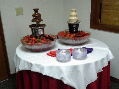 Pacers Catering Service fruit platter and chocolate fountain