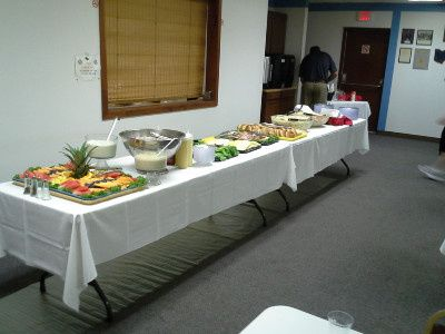 Pacers Catering Service buffet area