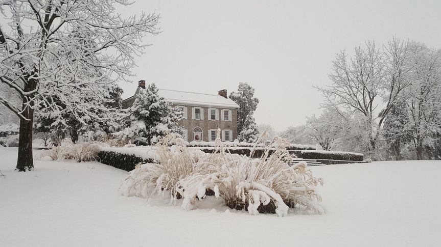 Manor House in Snow
