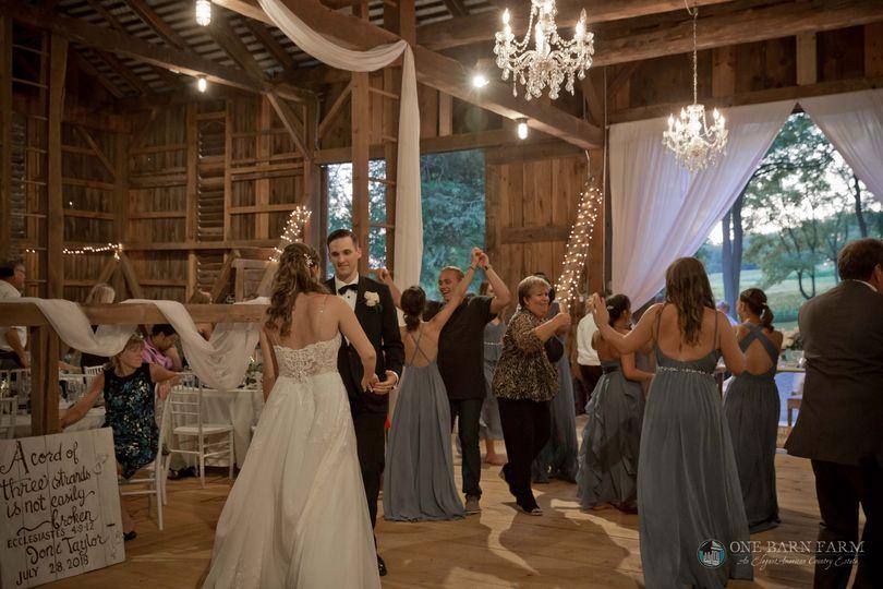 Dancing in the bank barn