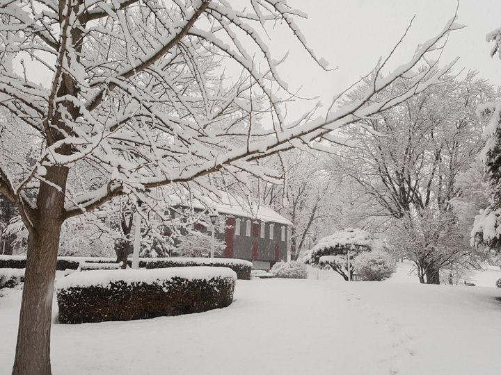 Tmx Barn Framed By Trees In Spring Snow Ii Apr 2018 51 992036 158065472571113 Mifflinburg, PA wedding venue