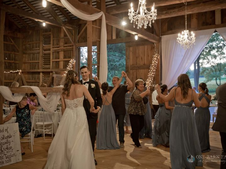 Tmx Onebarnfarm Taylor Jonathan 20180728 Wedding 166 51 992036 Mifflinburg, PA wedding venue