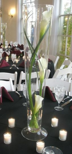 We have lots of rental glassware for your centerpieces, and lots of different styles too!