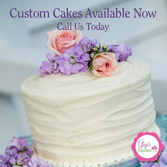 Custom Cakes are Available now. Call us today.