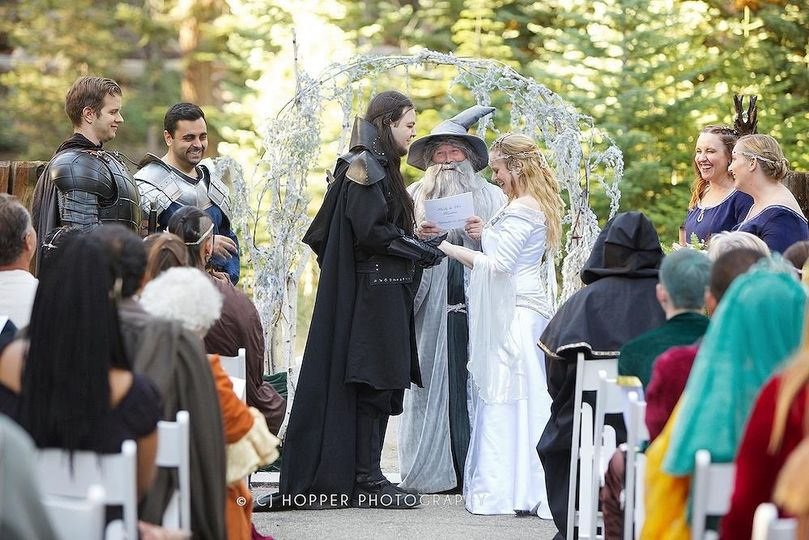 Lord of the Rings themed wedding