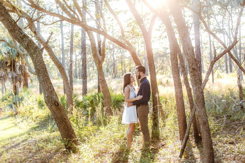 wekiva springs engagement photos at golden hour su