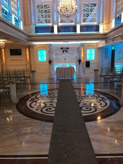 Indoor wedding design