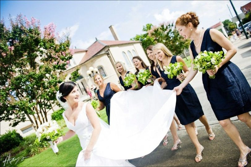 Classic Bride with her maids