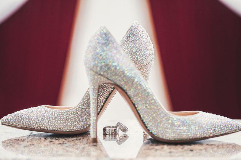 Bridal shoe and wedding ring