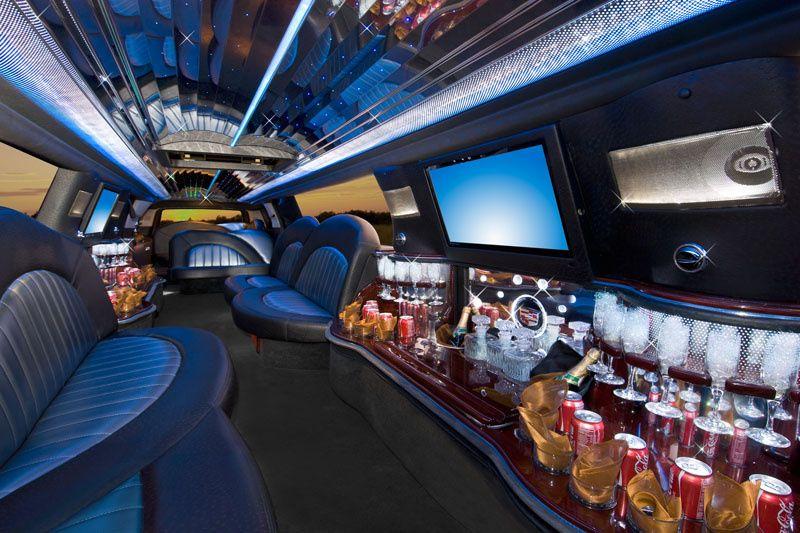 Eighteen-passenger Escalade interior