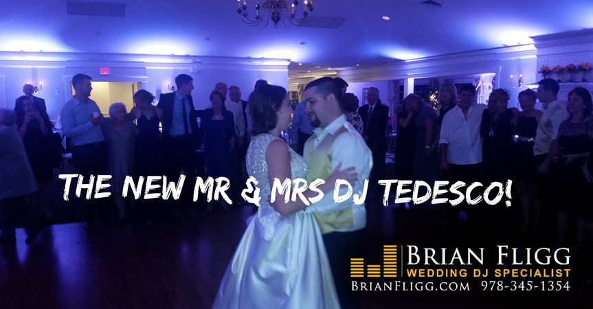 MA Wedding DJ with uplighting