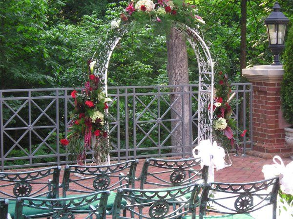 Burke Florist's arch, decorated