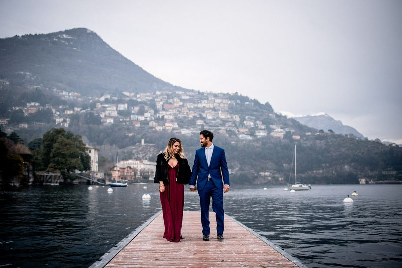 Engagement in Lake Como