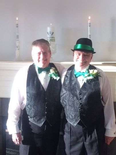 Matching bow ties and vests