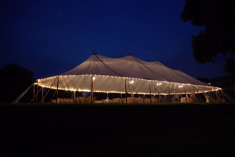 Reception tent lights