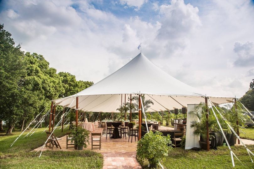 Open air reception tent