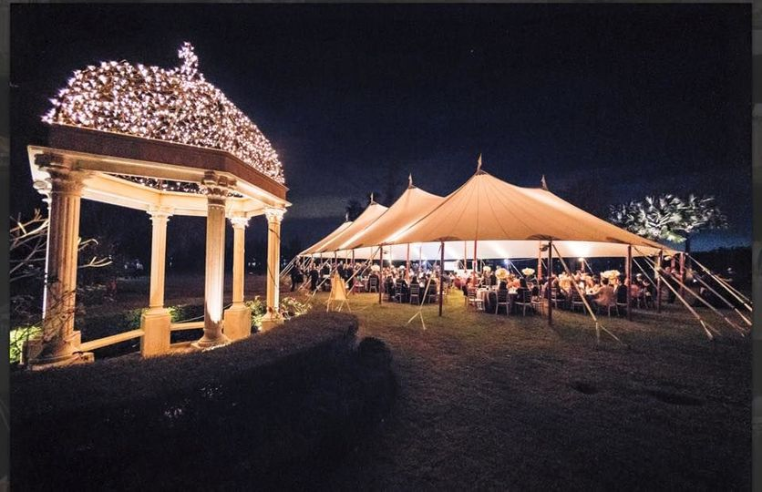 Evening gazebo and tent lights