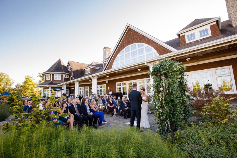 Ceremony on patio