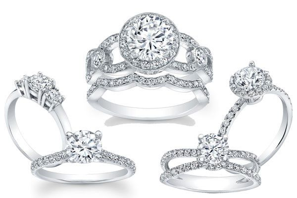 Selection of diamond rings
