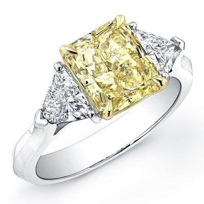 Tmx 1366127203553 Yellow Radiant Cut Diamond With 2 White Trillions Los Angeles, CA wedding jewelry