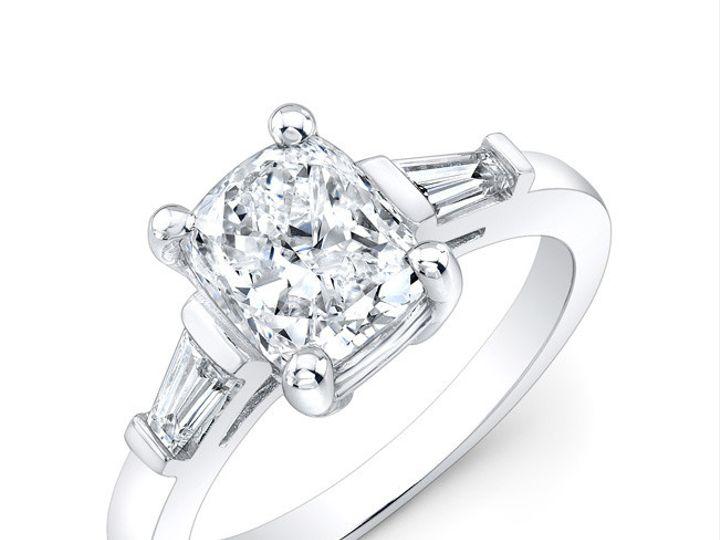 Tmx 1366127309838 Cushionringthreeqrtr Los Angeles, CA wedding jewelry