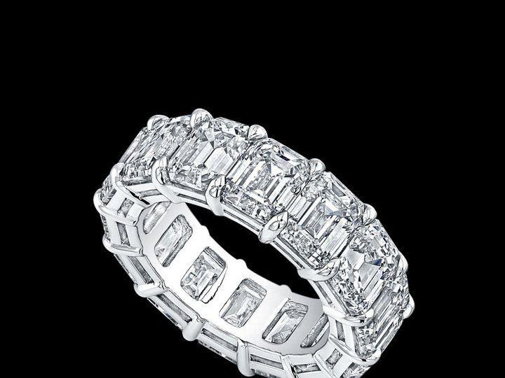 Tmx 1366129603528 Eternity Bands   Emerald Cuts Los Angeles, CA wedding jewelry