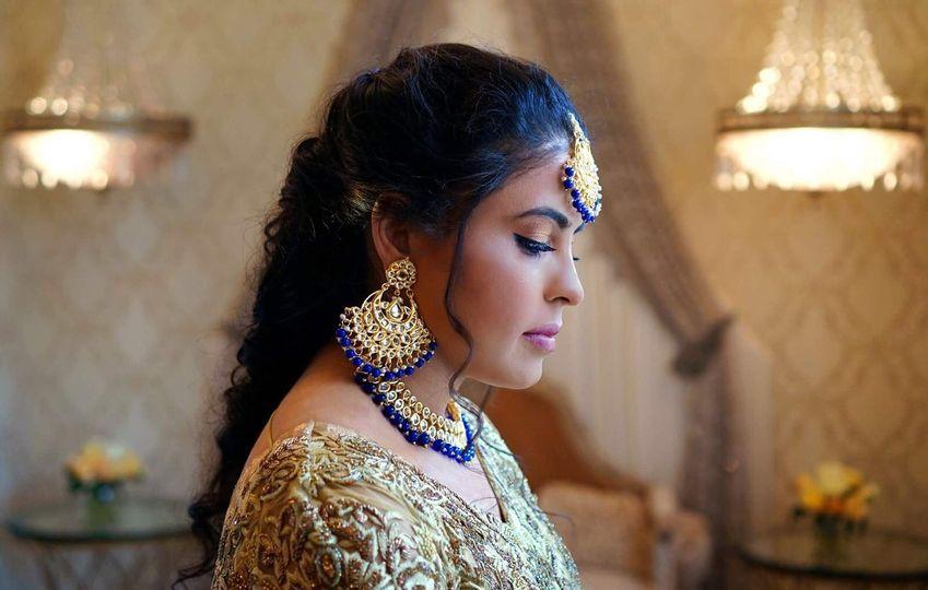 Bride in accessories