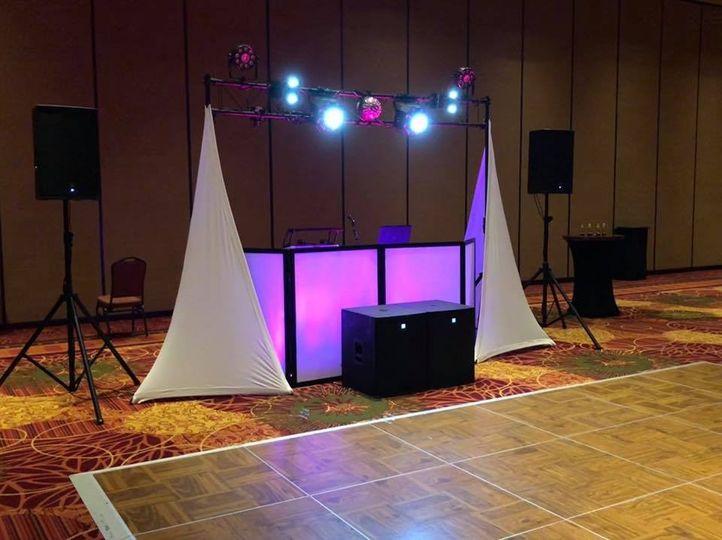 Full size dance floor lighting