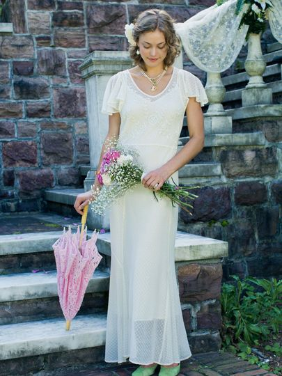 Ashley Dress - The perfect marriage of comfort and elegant styling, this romantic dress is just the...