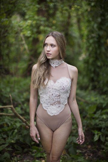 Lace upper bodysuit