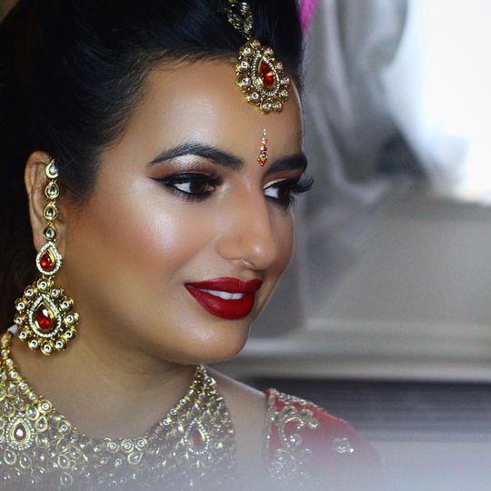 Full glam makeup look
