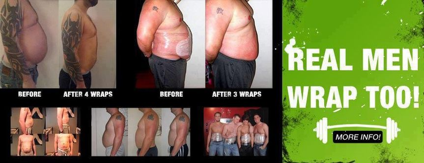 real men wrap to