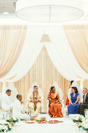 Fabric Mandap Wedding decor