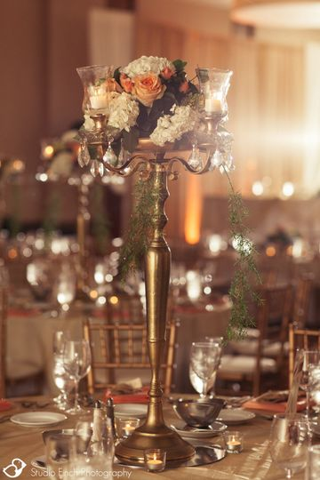 Crystal candelabra Reception d