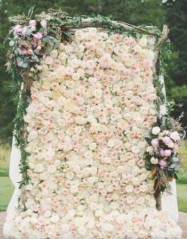 Flower wall and decor