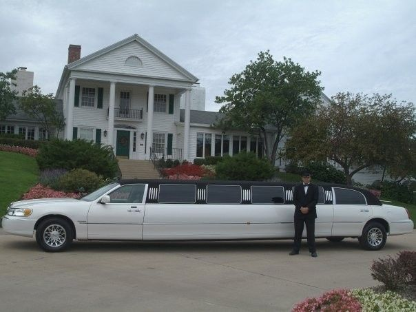 The 14 Passenger Lincoln Superstretch Limousine!  Our Lincoln has White Pearl Sparkle Paint with...