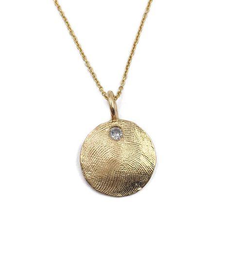 Solid Gold Pendant w/Diamond